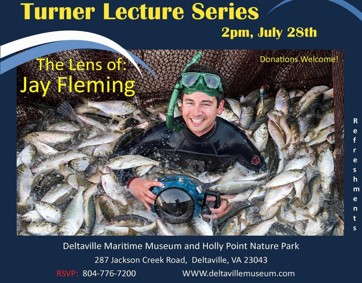 "Turner Lecture Series Continues at Maritime Park on July 28 with ""The Lens of Jay Fleming"""